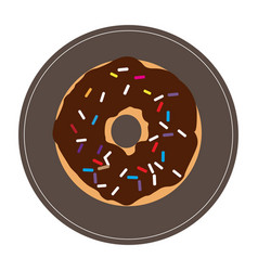 Isolated donut icon vector
