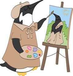 Penguin Painter vector image vector image