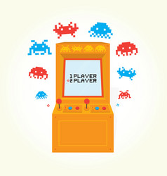 retro arcade machine isolated vector image vector image