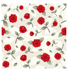 Roses Vintage Seamless Pattern vector image vector image