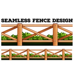 Seamless fence design along the bush vector
