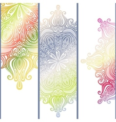Set of Patterned Banners vector image