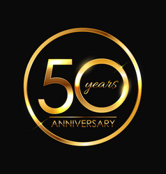 Template 50 years anniversary vector