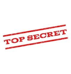 Top secret watermark stamp vector