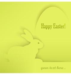 easter eggs rabbits green shadow 10 v vector image