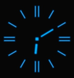 Abstract neon clock vector image