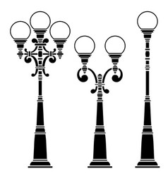 Street lamps collection vector