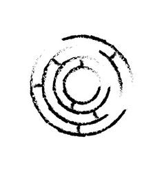 Labyrinth game shape exit search sketch vector