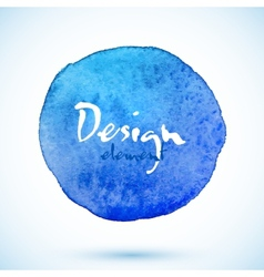 Blue watercolor circle design element vector