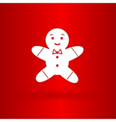 Nice gingerman on the red background vector