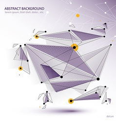 Abstract 3d object design vector