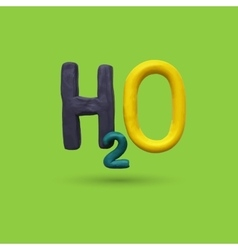 Formula of water h2o vector