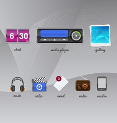 Gadgets for your tablet vector