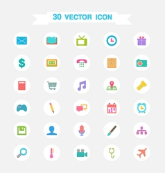Icon flat multimedia set vector