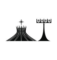 Metropolitan cathedral in brasil icon vector
