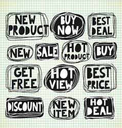 Discount Promotion Labels vector image
