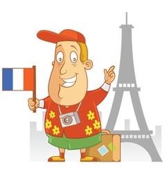 Tourist travel france vector