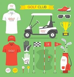 Golf club golf vector image