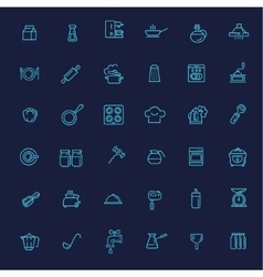 Outline icon collection - cooking kitchen tools vector