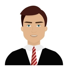 avatar business man graphic vector image