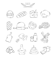 Professional collection of icons and elements set vector