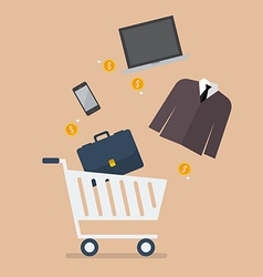 Add men clothing and accessories into cart vector