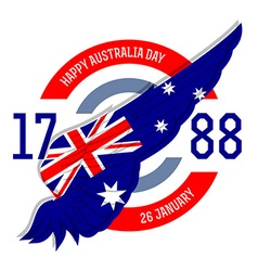 Australia day poster with flag vector image