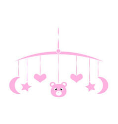 Baby shower object vector