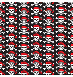 background pattern with pirate skull vector image