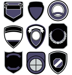 badge shape icon set vector image vector image