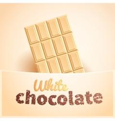 Bar of white chocolate vector