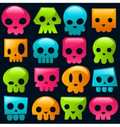 candy skulls vector image