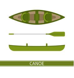 canoe icon vector image vector image