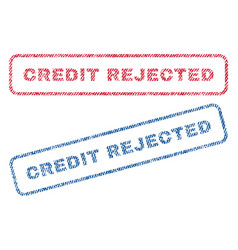 Credit rejected textile stamps vector
