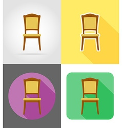 Furniture flat icons 07 vector