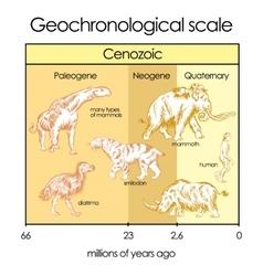 Geochronological scale part 5 - cenozoic eon vector