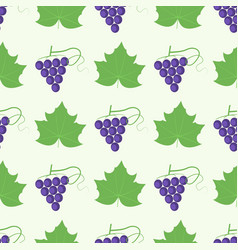 Grape berry leaf pattern 4by4 vector