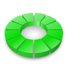 green circular diagram isolated on white vector image