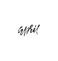 hand drawn typography lettering april month vector image