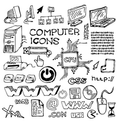 Handdrawn computer vector