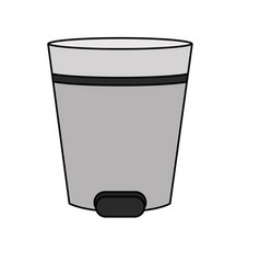 Isolated trash design vector