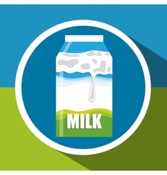 Milk concept design vector image vector image