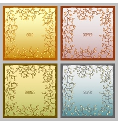 Set of 4 metal frames for text input vector