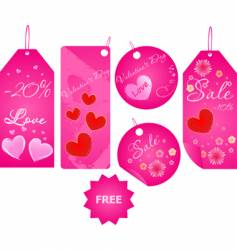 Set of valentine's day labels vector image vector image