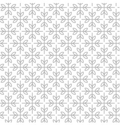 simple and graceful floral pattern design template vector image vector image