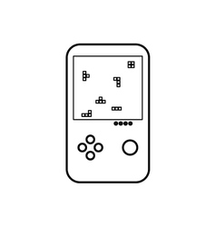 Tetris puzzle videogame vector