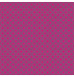 Tile pattern pink polka dots on violet background vector image