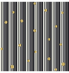 Gradient lines and golden dots seamless pattern vector