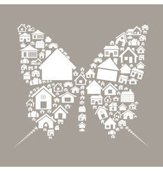 House the butterfly vector