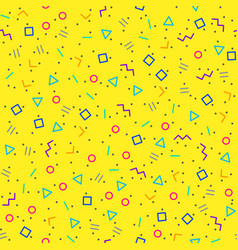 Abstract geometric background memphis style vector